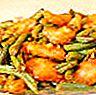 Ayam dengan kacang hijau dan halia dalam sos