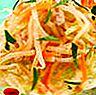 Daikon, udang dan salad tangerine